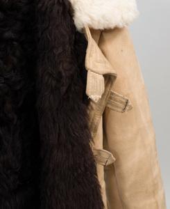 Russian Tulup Bekesha Officer's Winter Sheepskin Coat