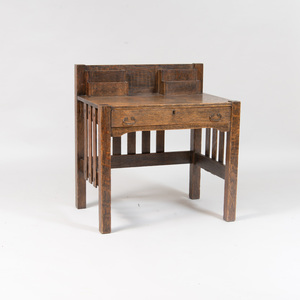 Arts and Crafts Style Oak Desk