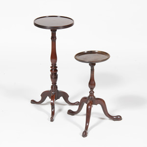 Two George III Style Mahogany Tripod Tables