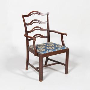 George III Style Mahogany Armchair