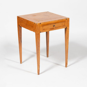 Italian Neoclassical Bleached Walnut and Fruitwood Parquetry Side Table