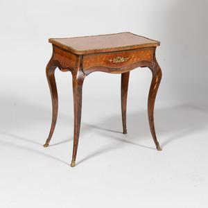 Napoleon III Gilt-Metal-Mounted Kingwood and Tulipwood Parquetry Ladies Dressing Table
