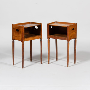 Pair of French Provincial Fruitwood Bedside Tables