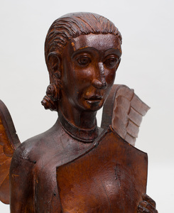 Carved Wood Figure of Angel, New England