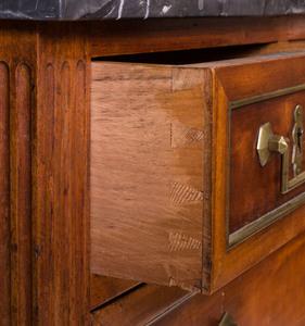 Louis XVI Style Brass-Mounted Mahogany Commode