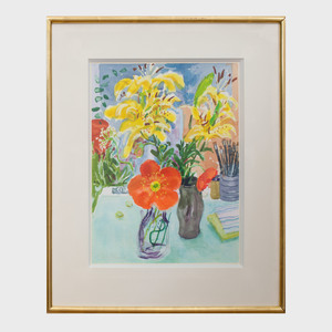 Nell Blaine (1922-1996): lcelandic Poppies and Lillies