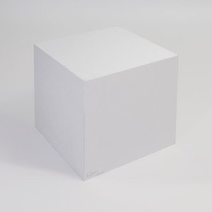 Albrizzi Acrylic White Cube Table
