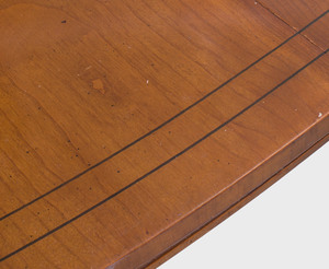 Directoire Style Brass-Mounted Fruitwood Extension Dining Table