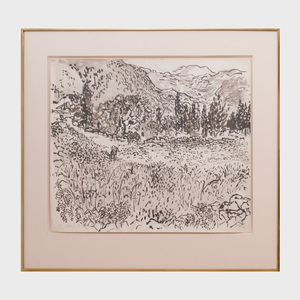 Nell Blaine (1922 - 1996): View of Delphi with Donkeys
