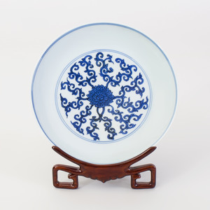 Chinese Blue and White Porcelain Saucer Dish