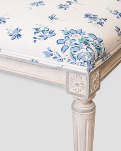 Louis XVI Style Painted Bench and a French Provincial Painted Armchair