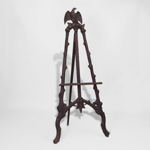 Victorian Carved and Stained Pine Easel