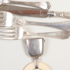 Group of American Silver Flatware and Small Articles