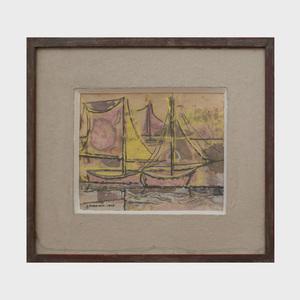George Morrison (1919-2000): Sailboats