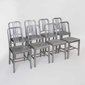 Set of Eight Emeco Aluminum Dining Chairs