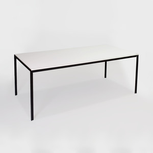 Mid-Century Modern Style Formica and Metal Dining Table
