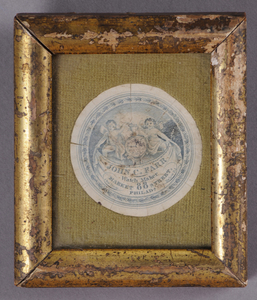 GROUP OF FRAMED LABELS AND FOUR LOOSE LABELS
