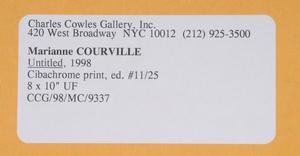 Marianne Courville: Untitled (Overgrown Vine), 1988