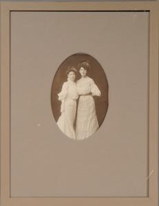 OTTO SARONY: PORTRAIT OF TWO YOUNG LADIES