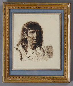 PIERRE-ALEXANDRE WILLE (1748-1821): BUST-LENGTH PORTRAIT OF A MAN