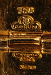 LADY'S 18K GOLD AND DIAMOND CORUM WRISTWATCH
