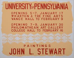 John Stewart: University of Pennsylvania Opening; and Untitled