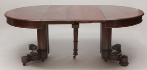 American Classical Style Mahogany Oval-Top Extension Dining Table