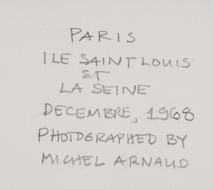 Michel Arnaud: Paris Ile Saint Louis et la Seine; and Paris Le Palais Royal