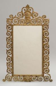 Victorian Style Gilt-Metal Dressing Mirror