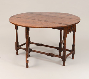 William and Mary Walnut Gate-Leg Table