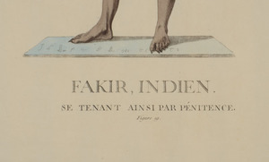 19TH CENTURY SCHOOL: FAKIR INDIENS: FIVE PLATES