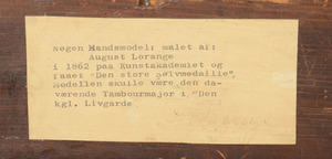 ATTRIBUTED TO AUGUST LORANGE (1833-1875): NOGEN MANDSMODEL