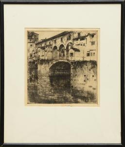 Ernest Roth (1879-1964): Ponte Vecchio, Evening