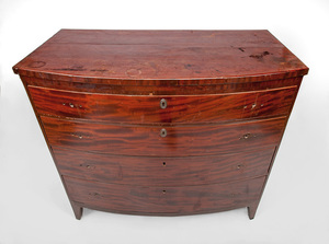 George III Style Mahogany Bowfront Chest of Drawers