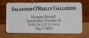 MORGAN RUSSELL (1886-1953): SYNCHRONY (NUMBER 4)