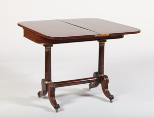 CLASSICAL GILT-BRONZE-MOUNTED CARVED MAHOGANY CARD TABLE, NEW YORK, ATTRIBUTED TO DUNCAN PHYFE