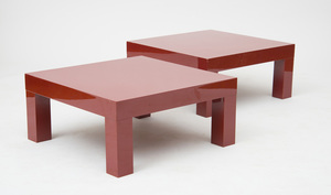 TWO CONTEMPORARY FORMICA LOW TABLES