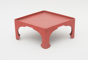JAPANESE RED LACQUER LOW TABLE