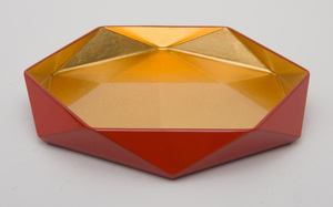 CONTEMPORARY JAPANESE LACQUERED DISH