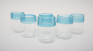 SIX PEET ROBINSON GLASS TUMBLERS