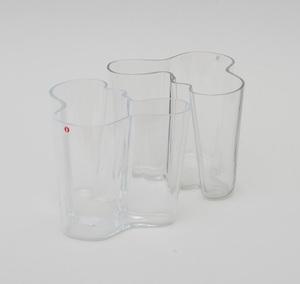 TWO ALVAR AALTO GLASS VASES
