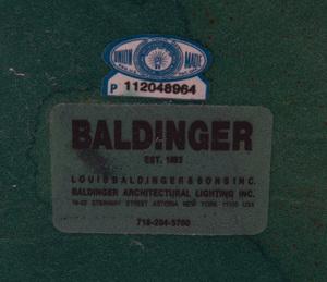 BALDINGER CHROME AND PAINTED METAL DESK LAMP