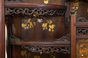 Chinese Carved Hardwood Wall Hanging Cabinet