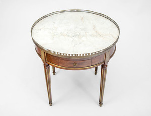 Louis XVI Brass-Mounted Bouillotte Table