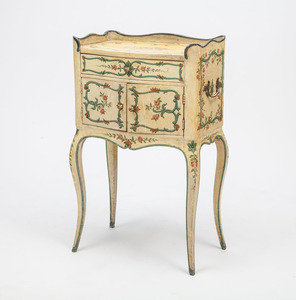 Louis XV Style Painted Bedside Cupboard