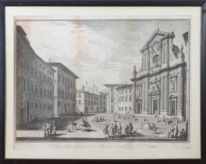 AFTER GIUSEPPE ZOCCHI (1711-1767): VEDUTA DELLA CHIESA DI S. MICHELE BERTELDE DE' P.P. TEATINI, FROM SCELTA DI XXIV VEDUTE DELLE PRI...