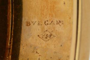 18K GOLD, SAPPHIRE AND EMERALD BANGLE, BULGARI