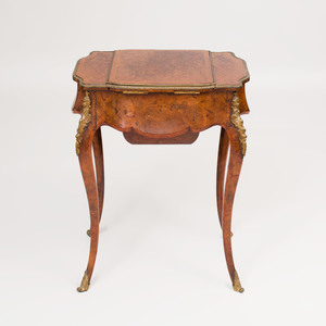 Napoleon III Gilt-Metal-Mounted Amboyna Dressing Table