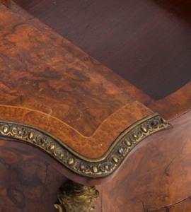 Napoleon III Gilt-Metal-Mounted Amboyna Dressing Table