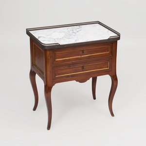 Louis XV Style Brass-Mounted Mahogany Table de Nuit